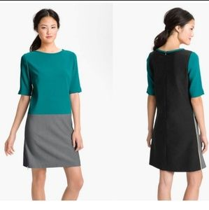 Eliza J Shift Colorblock Sheath Dress